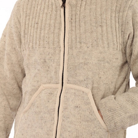 Jacheta din lana cu buzunare - ALB3