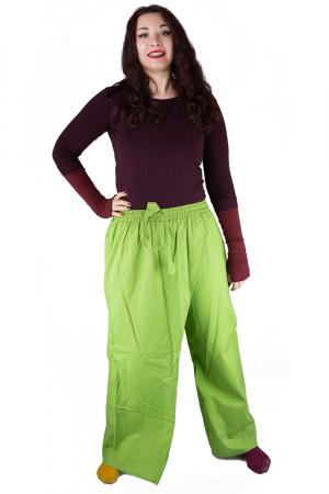 Pantaloni tip fusta din bumbac - Verde3