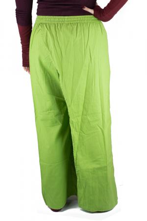 Pantaloni tip fusta din bumbac - Verde5