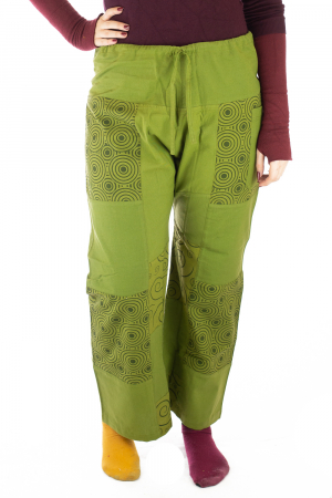 Pantaloni din bumbac verzi - Mandala0