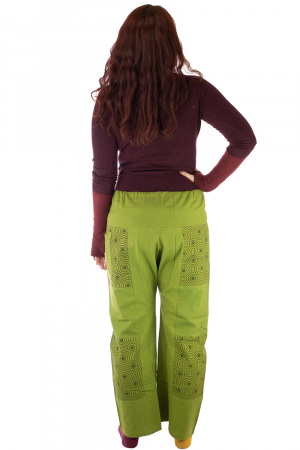 Pantaloni din bumbac verzi - Mandala4