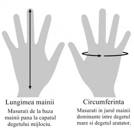 Manusi de lana fingerless - Hint of Magenta2