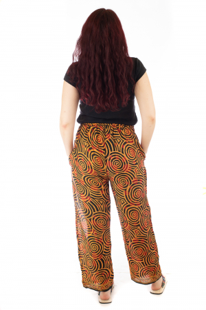 Pantaloni lejeri din bumbac colorati - Spiral - Portocalii3