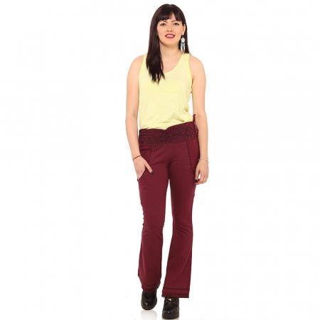 Pantaloni burgundy - Spirals0