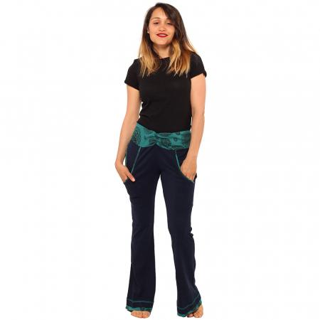 Pantaloni bleumarin - Mandala0