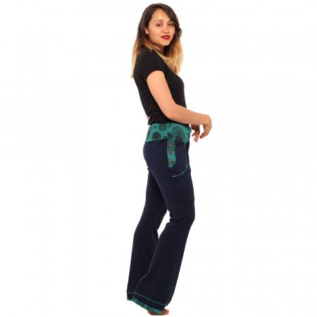 Pantaloni bleumarin - Mandala1