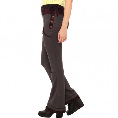 Pantaloni gri negru - Mandala rosie2