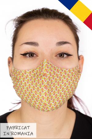 Masca bumbac cu filtru pentru adulti - Motiv 70