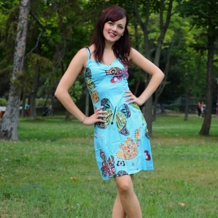 Rochie de bumbac - FLUTURI0