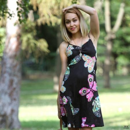 Rochie neagra de vara - FLUTURE1