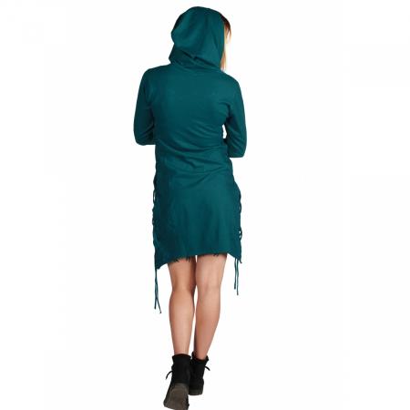 Rochie din bumbac cu gluga in stil corset2