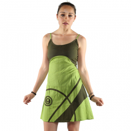 Rochie din bumbac - LIME [1]