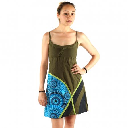 Rochie din bumbac verde - VIS2