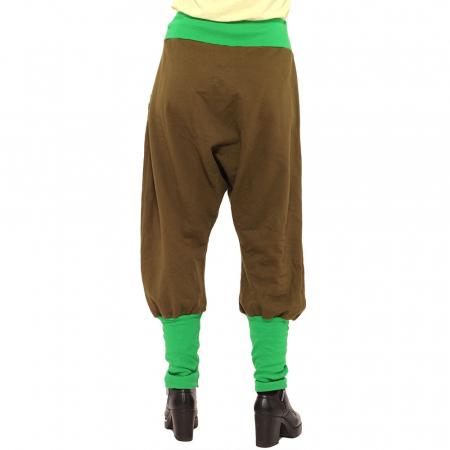 Salvari grosi cu banda verde si stransi jos - kaki [1]