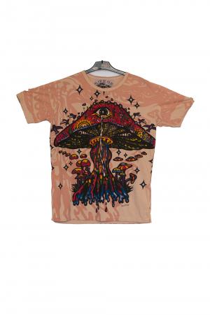 Tricou Melting Mushroom crem - Marime XL0