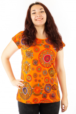 Tricou cu broderie manuala si print all over BG30210