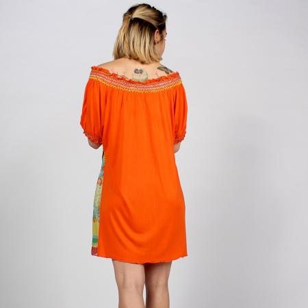 Tunica portocalie din bumbac - FLORI [1]
