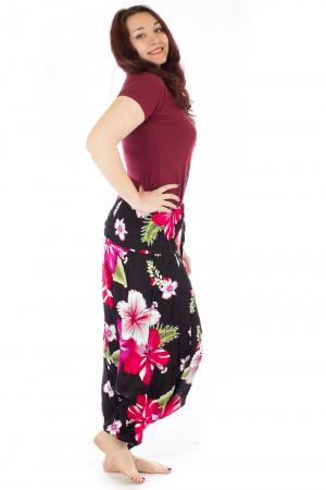Salvari lejeri cu print floral fuchsia2