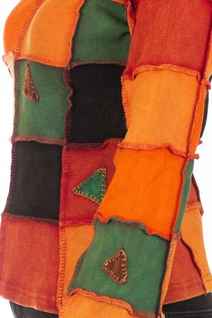 Bluza colorata cu patch-uri - Portocaliu3