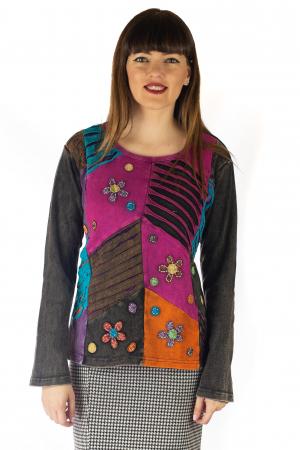Bluza colorata cu patch-uri - Multicolor [0]