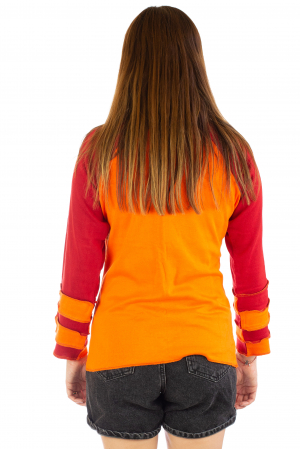 Bluza colorata cu guler - Portocaliu si rosu [3]