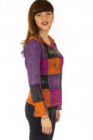 Bluza colorata cu patch-uri4
