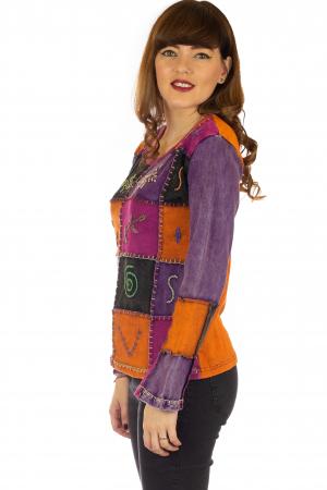 Bluza colorata cu patch-uri2