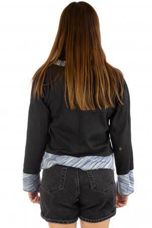 Bluza neagra din bumbac3