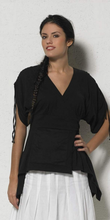 Bluza de vara petrecuta neagra  - TS136570