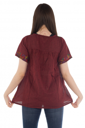 Bluza din bumbac cu broderie  - Color combo 13