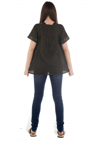 Bluza din bumbac cu broderie  - Color combo 7 [3]