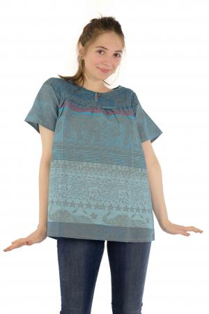 Bluza din bumbac cu maneca scurta  - Color combo 11