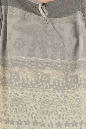 Bluza din bumbac cu maneca scurta  - Color combo 11 [2]