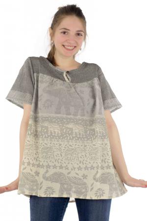 Bluza din bumbac cu maneca scurta  - Color combo 11 [0]