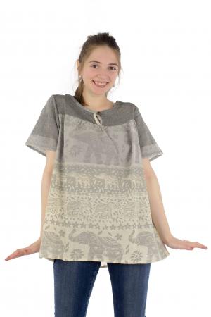 Bluza din bumbac cu maneca scurta  - Color combo 11 [1]