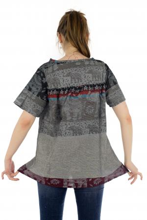 Bluza din bumbac cu maneca scurta  - Color combo 133