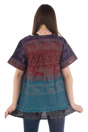 Bluza din bumbac cu maneca scurta  - Color combo 3 [3]