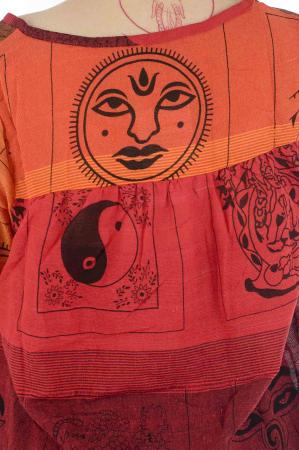 Bluza din bumbac cu maneca scurta  - Color combo 53