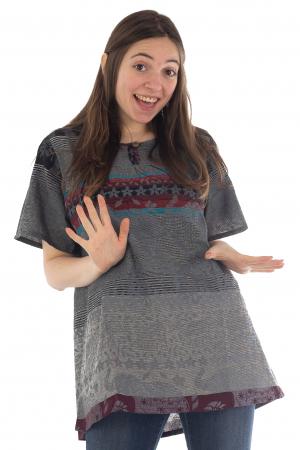 Bluza din bumbac cu maneca scurta  - Color combo 6 [0]