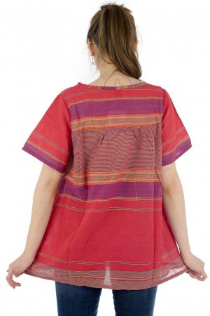 Bluza din bumbac cu maneca scurta  - Color combo 94