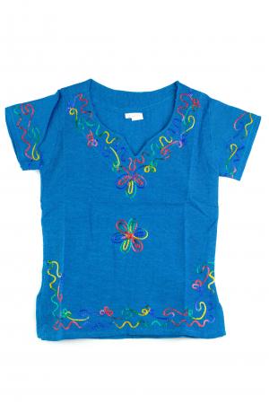 Bluzita cu broderie pentru copii - Albastru [0]