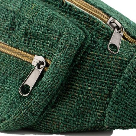 Borseta din canepa - Verde Inchis2