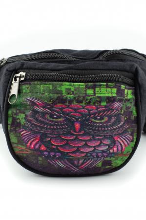 Borseta Tie Dye - Black Graffiti Owl1