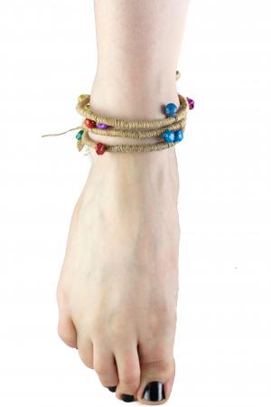Bratara de picior cu clopotei - Hemp Anklet [2]