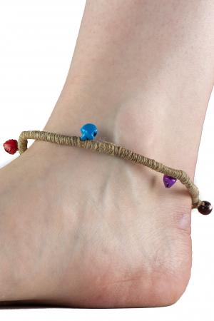 Bratara de picior cu clopotei - Hemp Anklet [0]
