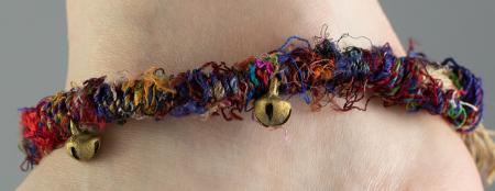 Bratara de picior multicolora cu clopotei - Hemp Anklet [2]