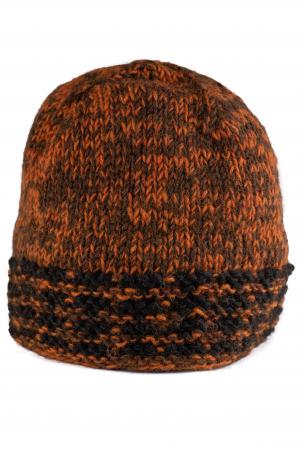 Caciula din lana - Black and Brown0