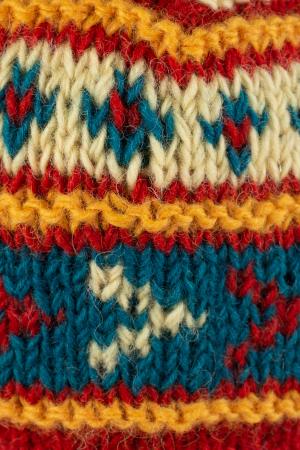 Caciula din lana - Blue and Yellow3