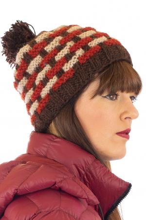 Caciula din lana - Brown1