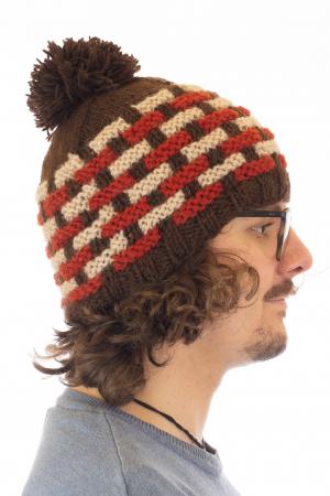 Caciula din lana - Brown2